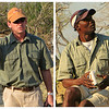 Our two guides - Costa on the right and Jacques - both experts with sharp eyes