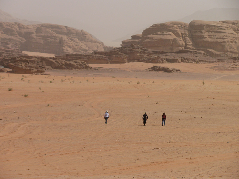 The hottest part of our desert walk otherwise often in the protecting shadow of rock cliffs