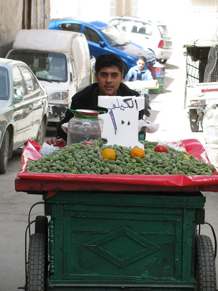 It took him 10 hours to sell his load of fresh green almonds