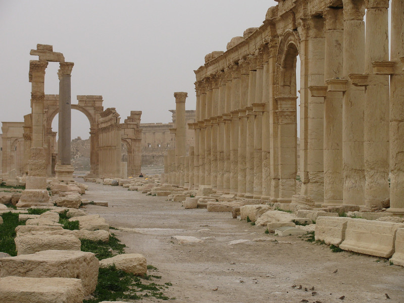 Palmyra desert oasis city - the ancient civic wealth on a grand scale still palpable