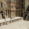 One of the largest theatres in the ancient world in Bosra the Northernmost city of the Petra Nabateans before Rome took over