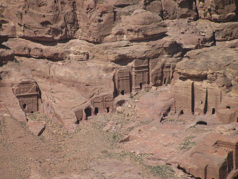 Petra tombs from the high place altar