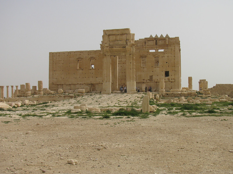 Temple of Bel with sacrifical altar to the left - later converted to Christian church