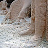 Camels everywhere in life and in stone - here immoratalised with their owner in the Siq
