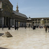 The square of the mosque and quite a civic space - all are barefoot