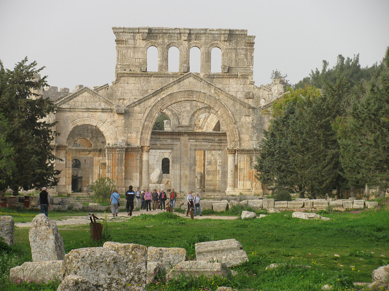 5th Century church of St Simeon Stylites at Qal'a Sim'an not far from Aleppo
