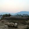 Mid river boulder