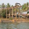 Abandoned boat lift