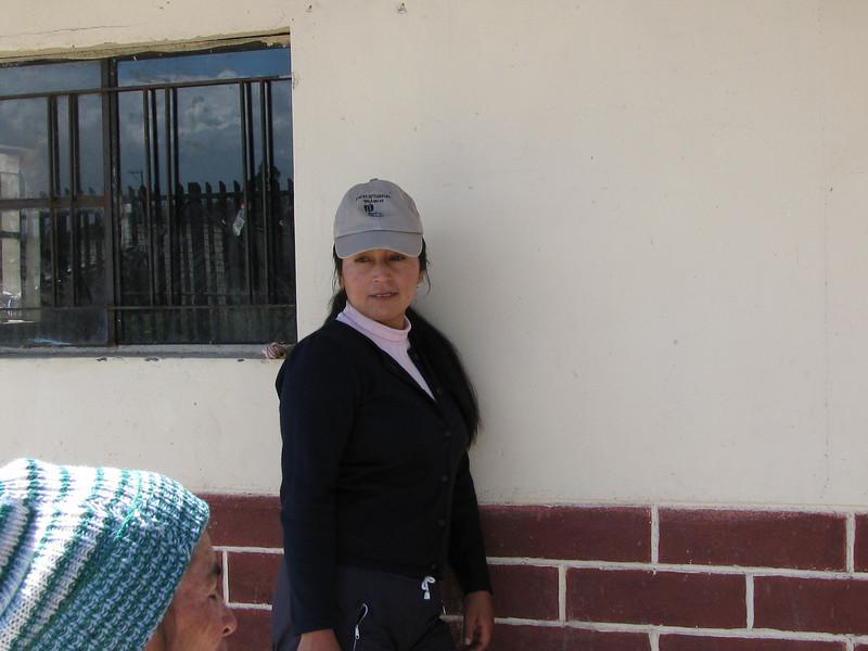 Graciela represents CORSEDI, the SDC local partner and she facilitates the project.