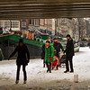Amsterdam - ice skating on the frozen canals