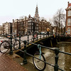 Amsterdam - lonely bike wheel by the bridge