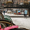 Amsterdam - bike riding on the frozen canal