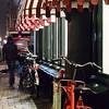 Amsterdam - red and white street night winter scene
