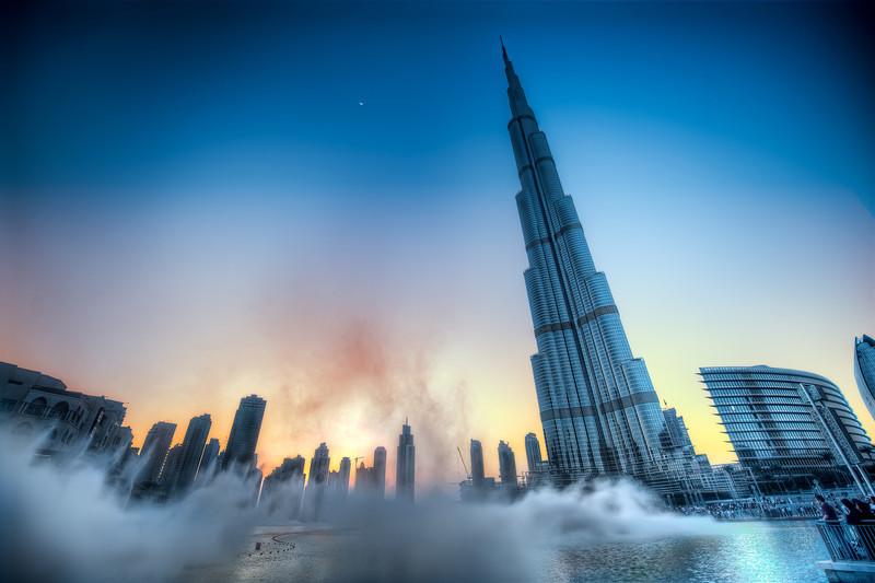 Dramatic Sunset Over The Burj Khalifa - (Dubai, UAE)