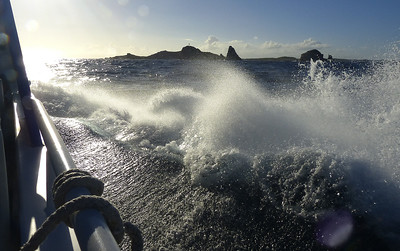 water splash on a speed boat