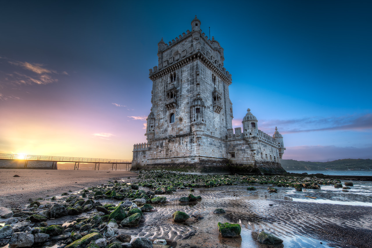 Belem Tower At Sunrise || Lisbon Portugal
