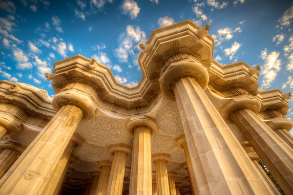 The Pillars of Guell - (Barcelona, Spain)