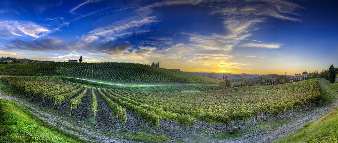 Sunset Over Chianti - (Tuscany, Italy)