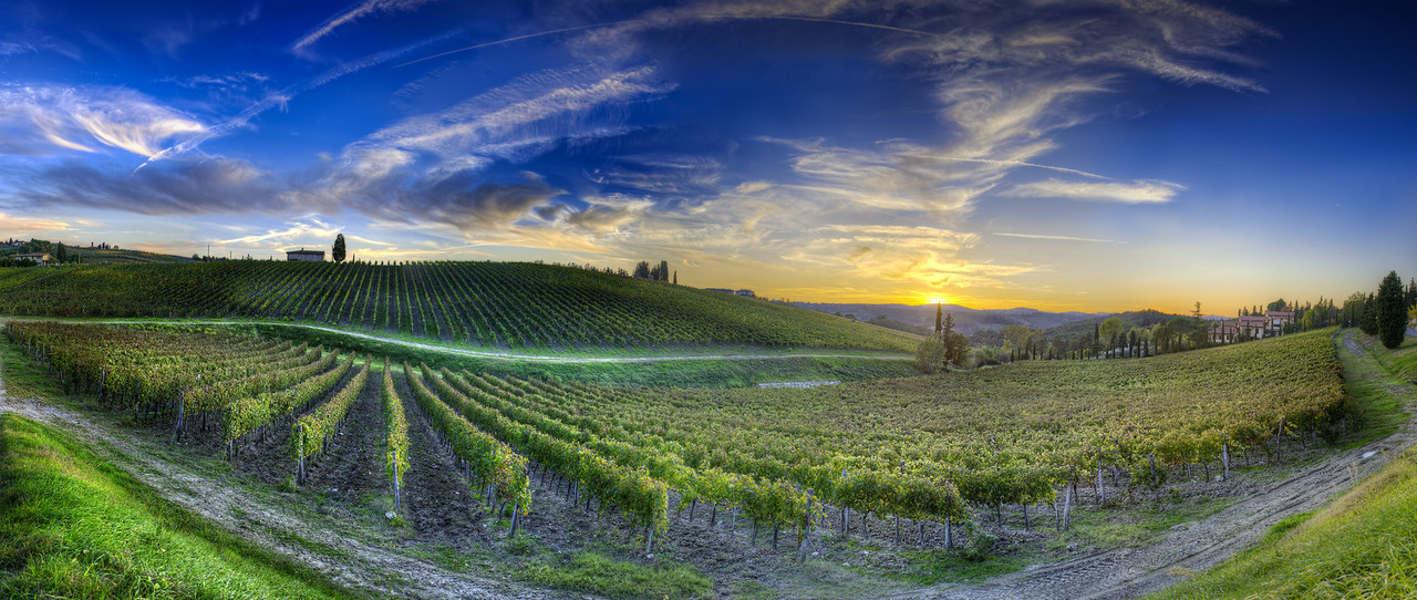 Sunset Over Chianti - (Tuscany, Italy)