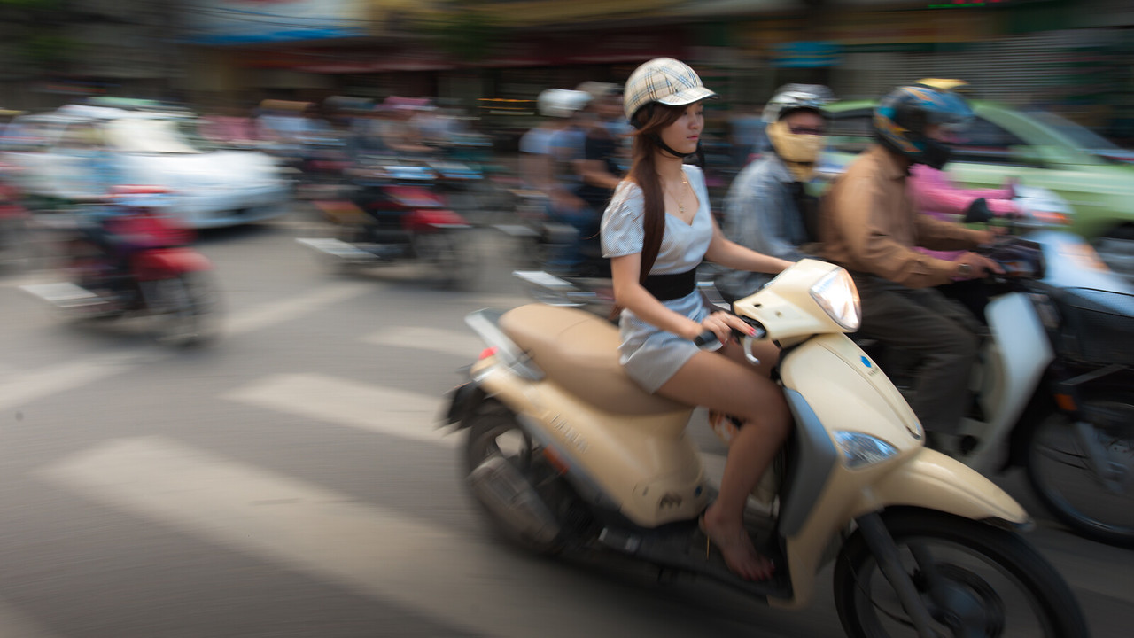 On the streets of Hanoi