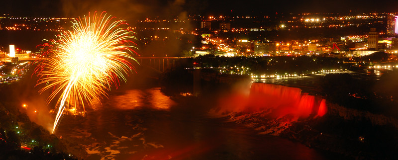 Fireworks over Niagara Falls  Copyright - W. Keith Baum | PhotoCanal.com