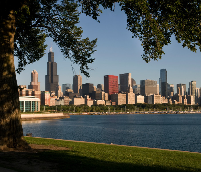 Lake Michigan, Chicago Harbor and the downtown skyline, Chicago, IL.  Copyright - W. Keith Baum   PhotoCanal.com