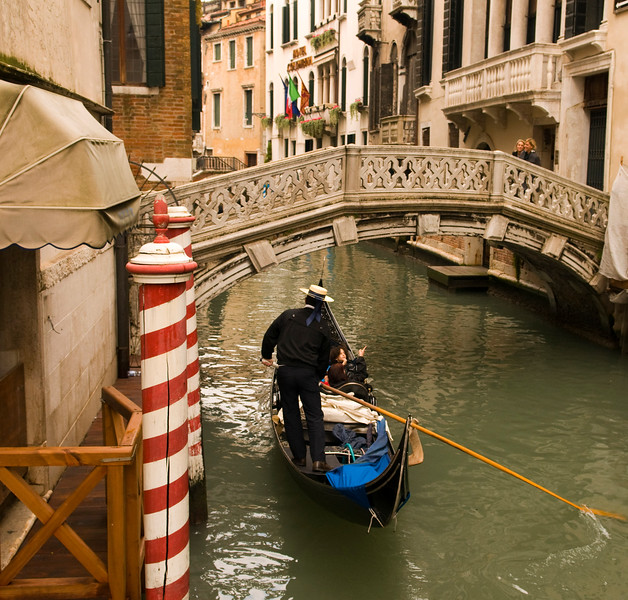 Gondola ride down one of the many canals in Venice Italy  Copyright - W. Keith Baum | PhotoCanal.com