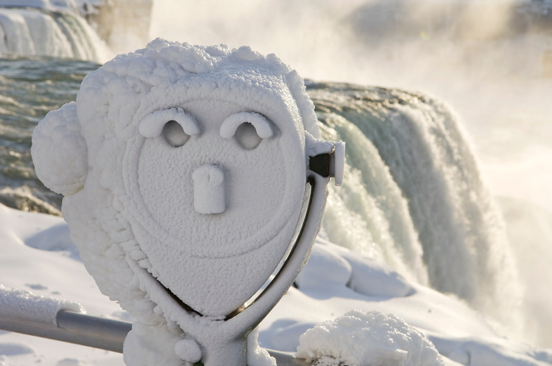 Coin operated viewer encrusted in frozen midst at Niagara Falls  Copyright - W. Keith Baum | PhotoCanal.com