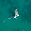 Sailboat in the turquoise waters off Key Biscayne, Florida  Copyright - W. Keith Baum | PhotoCanal.com