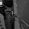 Overhead shot of a gondolier making his way down one of the many canals of Venice Italy  Copyright - W. Keith Baum | PhotoCanal.com