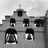 El Camino Real - Church Bells at San Gabriel Mission. The City of Los Angeles was founded as an offshoot of this mission.  Copyright - W. Keith Baum | PhotoCanal.com