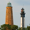 Old & New Cape Henry Lighthouses, Virginia Beach, VA.  Copyright - W. Keith Baum | PhotoCanal.com