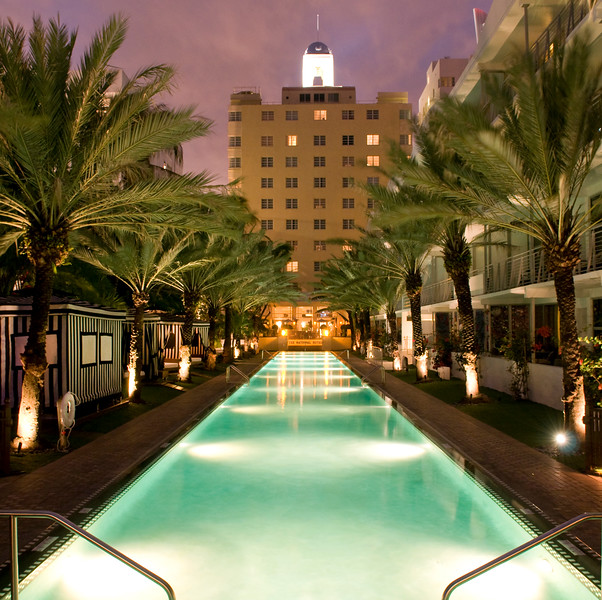The Infinity Pool at the National Hotel, Miami Beach, FL  Copyright - W. Keith Baum   PhotoCanal.com