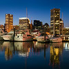 Baltimore Inner Harbor at twilight.  Copyright - W. Keith Baum | PhotoCanal.com