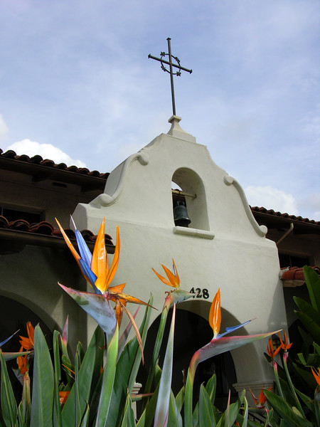 El Camino Real - San Gabriel Mission. The City of Los Angeles was founded as an offshoot of this mission.  Copyright - W. Keith Baum | PhotoCanal.com