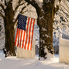 American flag in snow near Plymouth, Michigan  Copyright - W. Keith Baum | PhotoCanal.com
