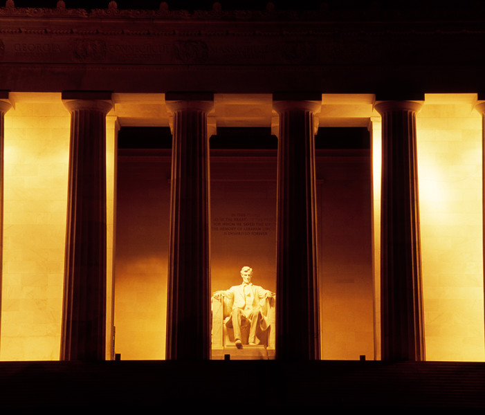 The Lincoln Memorial at night, Washington, D.C., USA  Copyright - W. Keith Baum | PhotoCanal.com