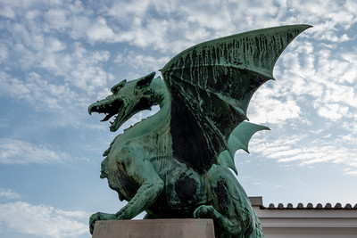 Dragon on Ljubljana's Dragon Bridge