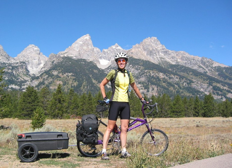 "<b>Panniers, a trailer, both?</b> <br/><br/> For the touring cyclist... how much did you say you need with you? And where are you going to put it? At some point in time, everyone who heads out on a self-supported bike tour faces the question of whether to use panniers or a trailer - or both. And the same question is one that I've heard from a lot of folks planning to start touring. Actually, it tends to be a set of questions - what do you use? what do you recommend? why? <br/><br/> I've toured with panniers, and I've toured with a trailer, and I imagine I'll continue to choose based on the trip I'm about to take. I don't pretend to have all of the answers (does anyone?), but I'll attempt to present some reasons for each choice. <br/><br/> Click to jump to the article <b><a href=""http://denisegoldbergpanniersortrailer.blogspot.com/"">Panniers, a trailer, both?</a>"
