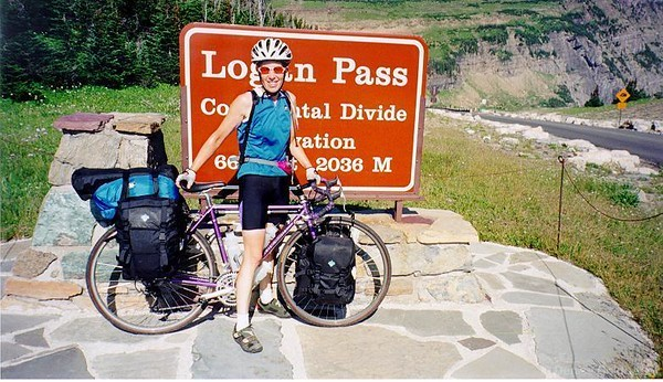 1998: Along the spine of the Rockies  My very first solo, self-supported bicycle tour! I chose the Rocky Mountains as the site of my adventure, starting by crossing the panhandle of Idaho, wandering north through Montana to Glacier National Park, crossing into Alberta & British Columbia to continue to follow the spine of the Rockies north to Jasper. A fabulous experience!  Click to visit my journal.