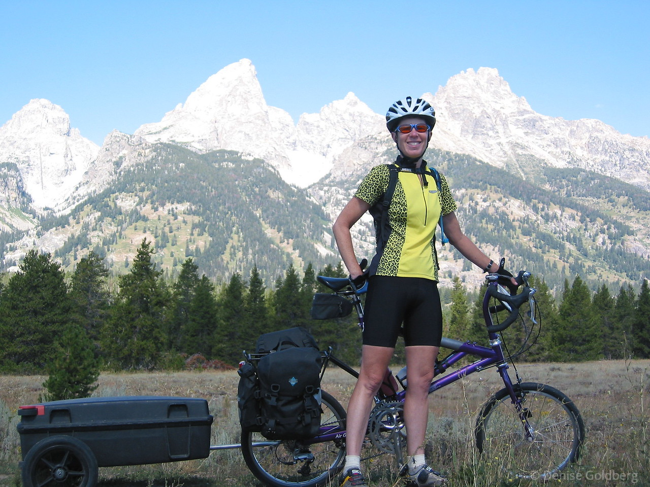 """<big>2002-06: Boston to Oregon, a cross-country celebration</big> <br/><br/> Riding across the United States has been a dream of mine for a while. Why? <br/><br/>People keep asking me why I want to do this trip. It's really a combination of things to me: a chance to explore our country at a pace that lets me really see things, a chance to meet and interact with people who live in the areas I'll be passing through, a chance to meet other cyclists, a chance to see parts of the country that I've only dreamed of so far, and a sense of accomplishment that comes from a ride of this sort.<br/><br/>Please join me in my dream ride from east to west. <br/><br/> Click to visit my <a href=""""http://denisegoldberg2002xc.blogspot.com/""""><b>journal</b></a> or <a href=""""/Travel/Across-the-United-States-by""""><b>photo galleries</b></a>."""