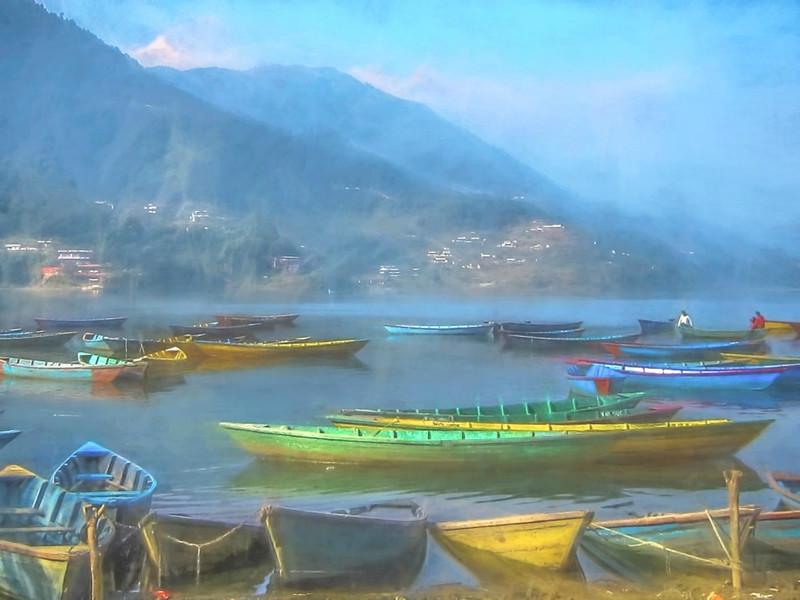 Lake Scene in Nepal