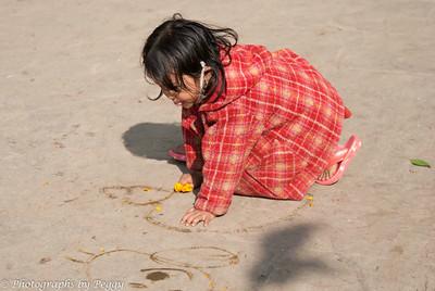 Girl Playing in Kathmandu