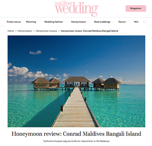 The Maldives for YAYW (Conrad Maldives Rangali Island), 2016