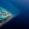 Riff bei Ras Mohammed Luftaufnahme