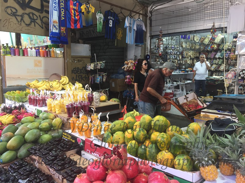 A great look at produce all grown in Israel. The pomegranates and mangos are amazingly yummy and I am really enjoying them as this is the end of their season. Ellie wants me to bring some home for her!