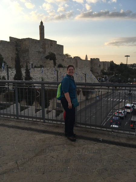 Outside the Jaffa Gate. Just before I fell down the stairs!