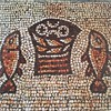 The Mosaic in front of the rock. There are mosaics everywhere here!