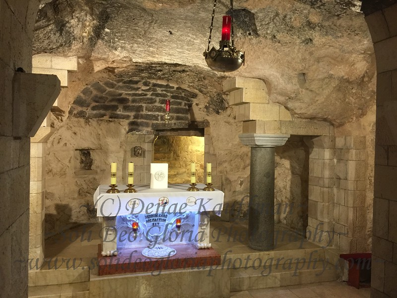 Inside the church of annunciation where the angel Gabriel appeared to Mary to tell her that she had been chosen to bear the Son of God! Wow!