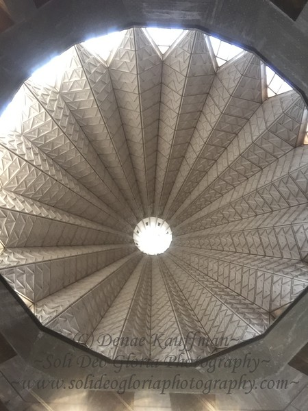 A neat view of the dome inside the church!